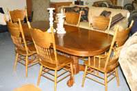 Carolina Furniture Outlet Oak Dining Room Table and Chairs