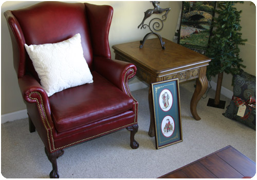 Nc Leather Wing Chair Outlet